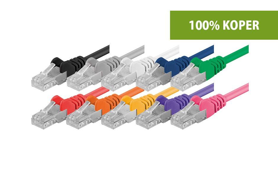 Cat5e patchkabels - 100% koper