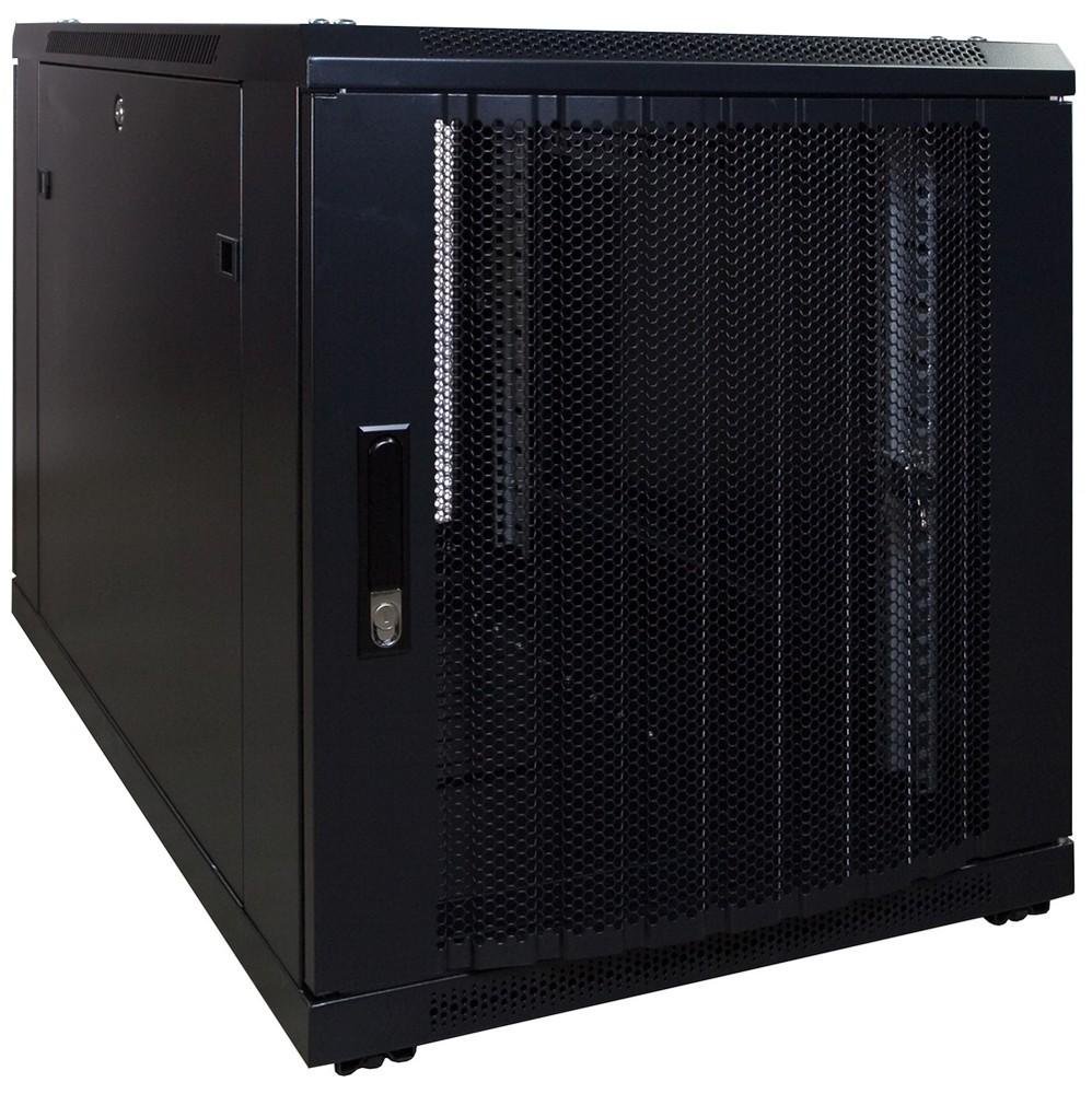 Afbeelding van 12U mini serverkast met geperforeerde deur 600x1000x635mm (BxDxH)