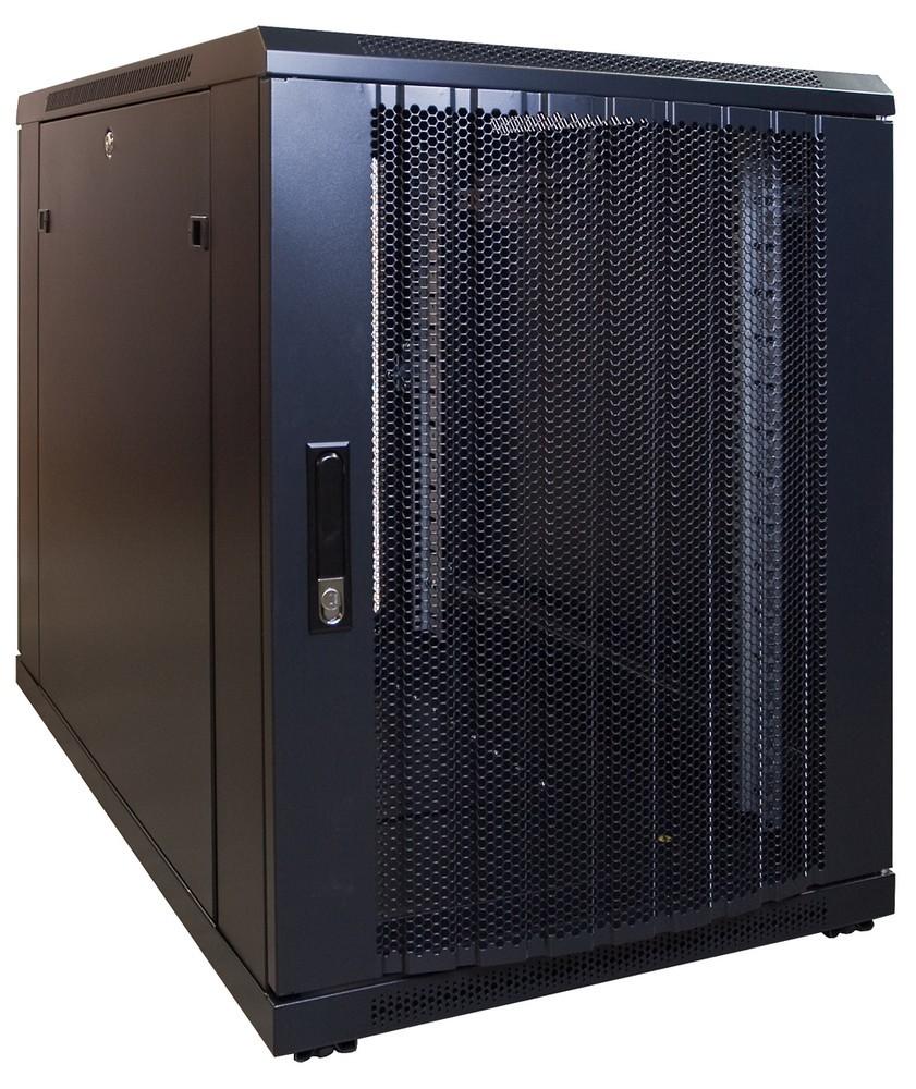Afbeelding van 15U mini serverkast met geperforeerde deur 600x1000x770mm (BxDxH)