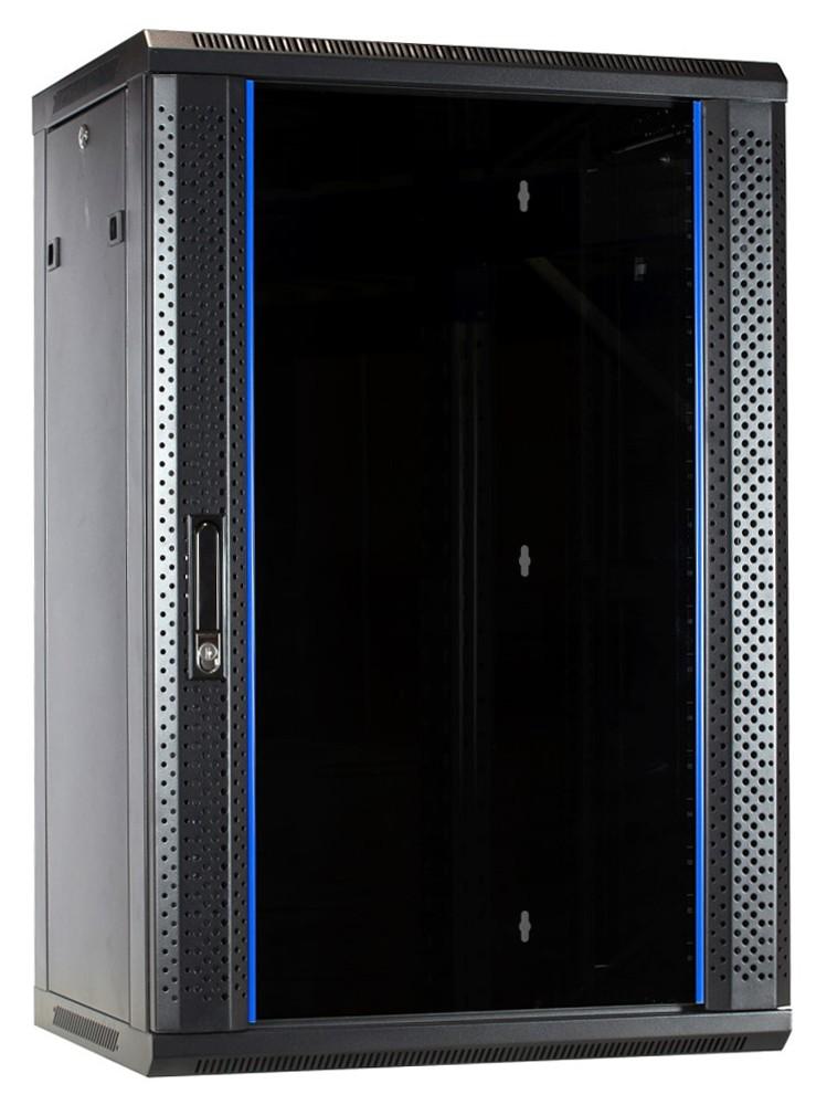 Afbeelding van 18U wandkast met glazen deur 600x450x900mm