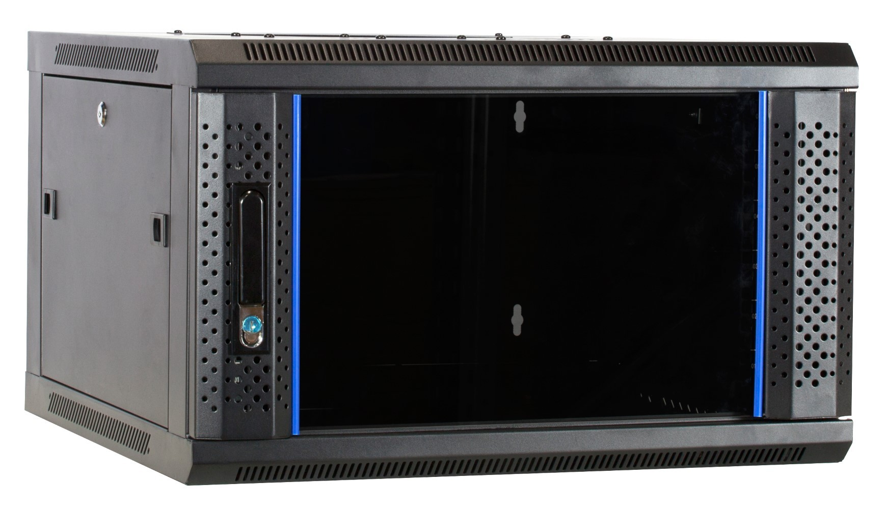 Afbeelding van 6U wandkast met glazen deur 600x600x368mm