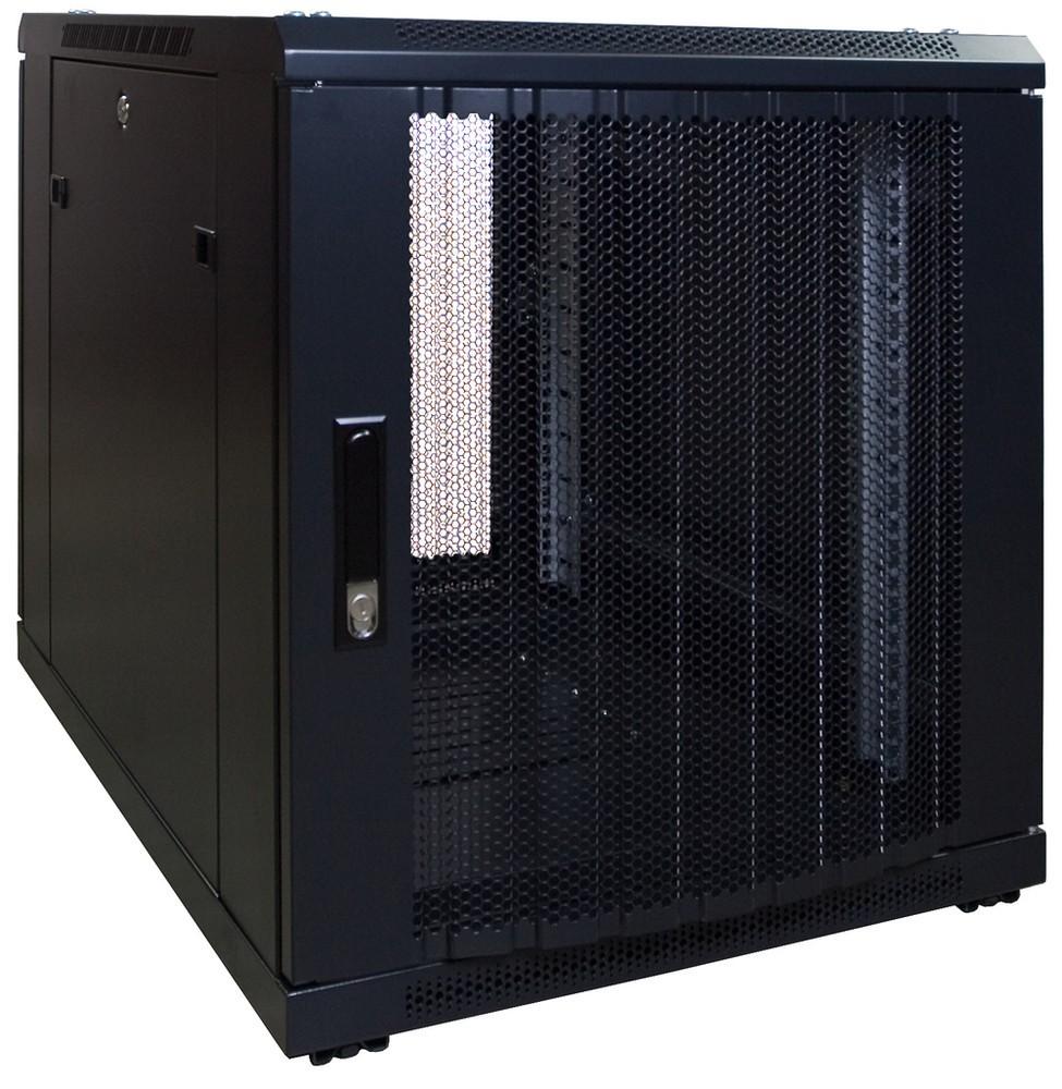 Afbeelding van 12U mini serverkast met geperforeerde deur 600x800x635mm (BxDxH)