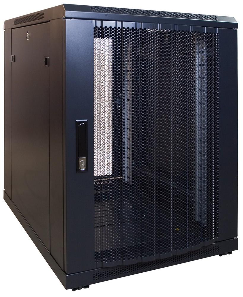 Afbeelding van 15U mini serverkast met geperforeerde deur 600x800x770mm (BxDxH)