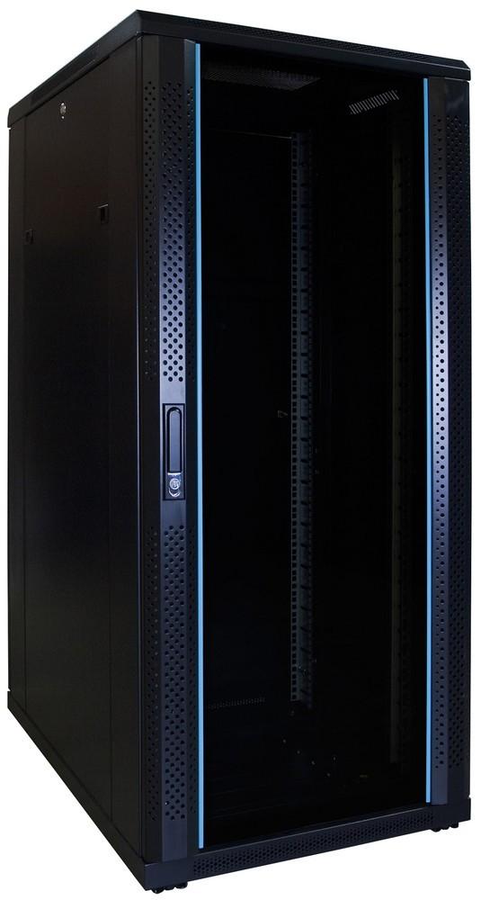 Afbeelding van 27U serverkast ongemonteerd met glazen deur 600x800x1400mm (BxDxH)