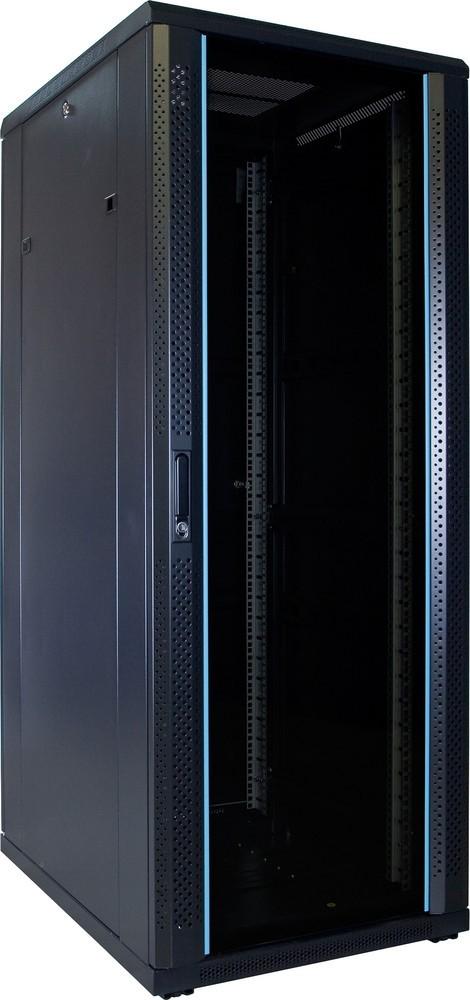 Afbeelding van 32U serverkast ongemonteerd met glazen deur 600x800x1600mm (BxDxH)