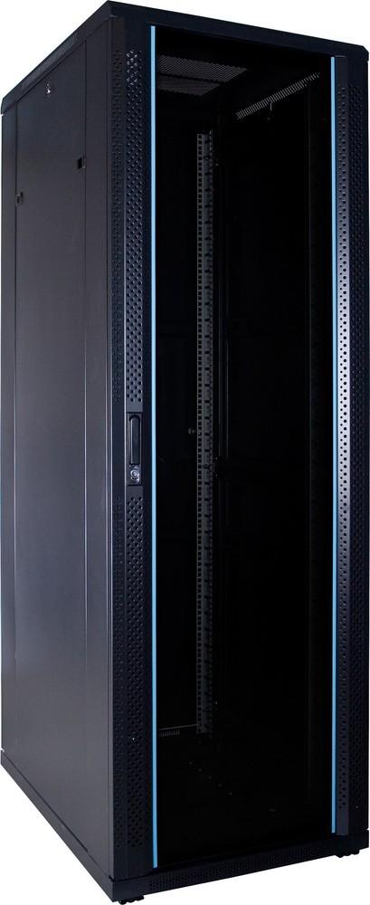 Afbeelding van 37U serverkast ongemonteerd met glazen deur 600x800x1800mm (BxDxH)