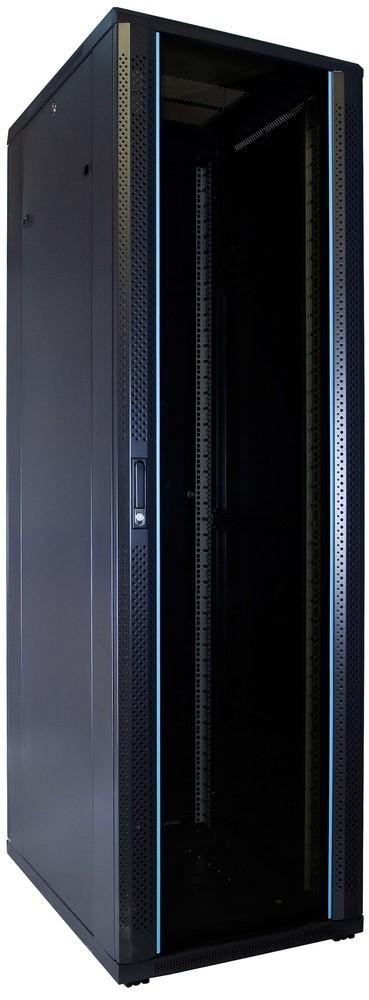 Afbeelding van 42U serverkast ongemonteerd met glazen deur 600x800x2000mm (BxDxH)