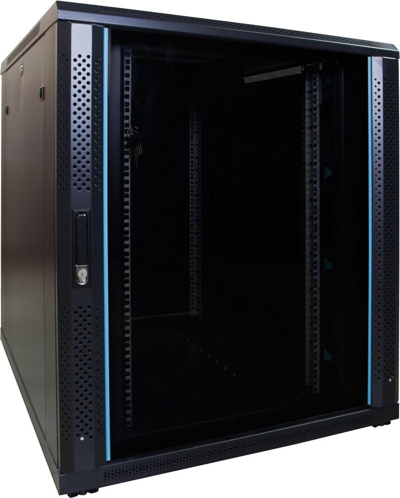 Afbeelding van 18U serverkast met glazen deur 800x1000x1000mm (BxDxH)