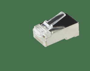 Afbeelding van CAT5 Connector RJ45 - Shielded - voor soepele en stugge kern