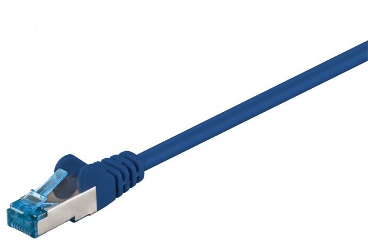 Afbeelding van CAT6a S/FTP (PIMF) 0,25m blauw