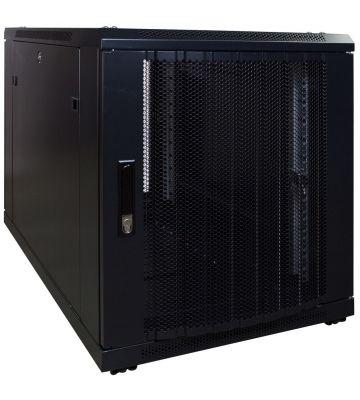 12U mini serverkast met geperforeerde deur 600x1000x720mm (BxDxH)