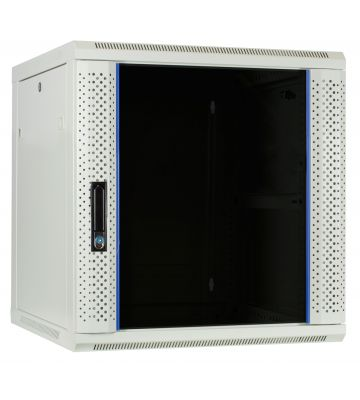 12U witte wandkast met glazen deur 600x600x635mm