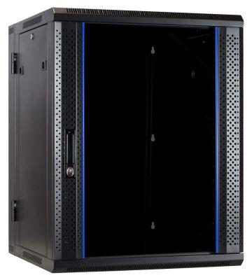 15U wandkast (kantelbaar) met glazen deur 600x600x770mm