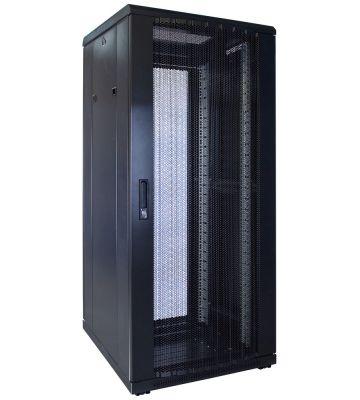 27U serverkast met geperforeerde deur 600x600x1400mm (BxDxH)