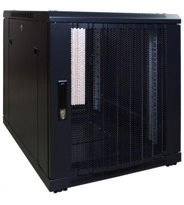 12U mini serverkast met geperforeerde deur 600x800x720mm (BxDxH)