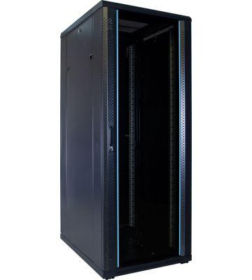 32U serverkast ongemonteerd met glazen deur 600x800x1600mm (BxDxH)