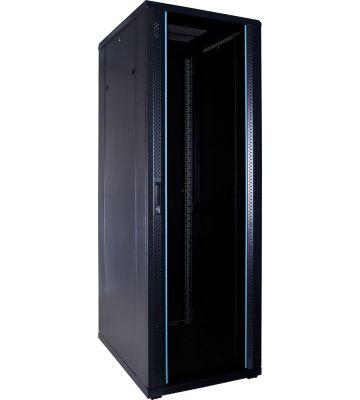 37U serverkast ongemonteerd met glazen deur 600x800x1800mm (BxDxH)