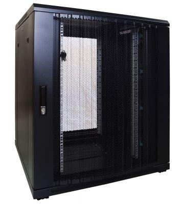 18U serverkast met geperforeerde deur 800x800x1000mm (BxDxH)
