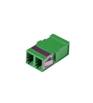 Singlemode keystone koppeling LC-LC duplex groen