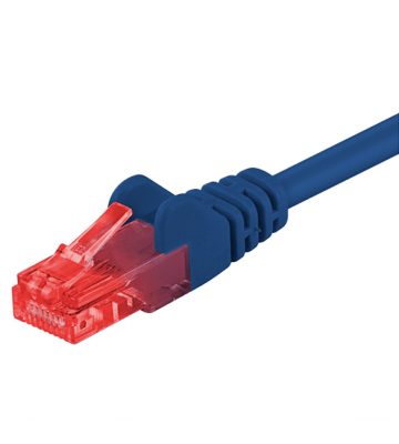 CAT6 UTP 0,50m blauw - CCA