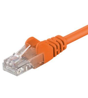 CAT5e UTP 0,25m oranje  - CCA
