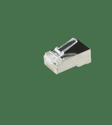 CAT5e Connector RJ45 - Shielded - voor soepele en stugge kern
