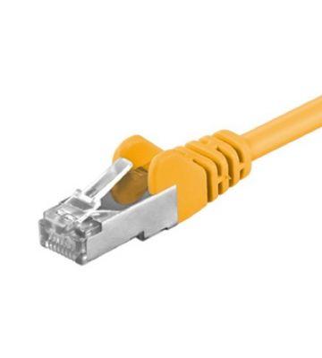 CAT5e FTP 0,25m geel