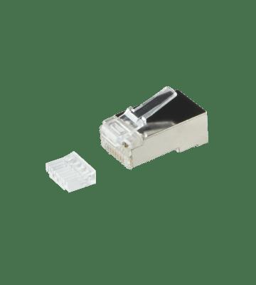 CAT6 Connector RJ45 + Hulpstukje - Shielded - voor soepele kern