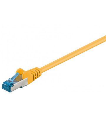 CAT6a S/FTP (PIMF) 0,25m geel