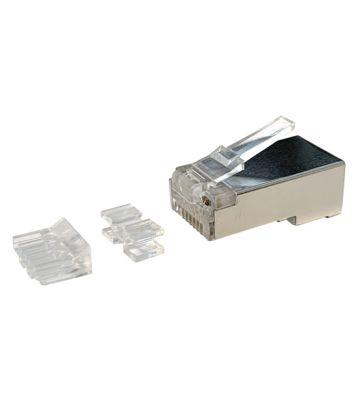 CAT6A Connector RJ45 + Hulpstukje - Shielded - voor soepele kern