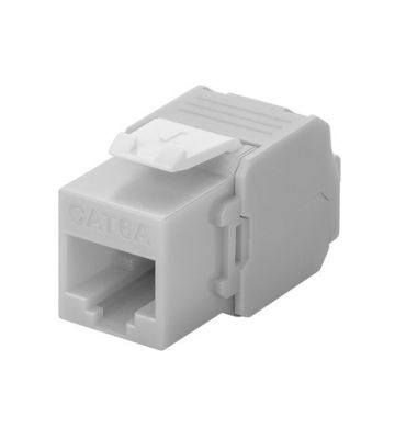 CAT6a UTP Keystone Connector - Toolless - Grijs