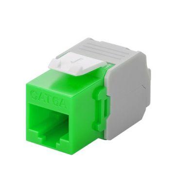 CAT6a UTP Keystone Connector - Toolless - Groen