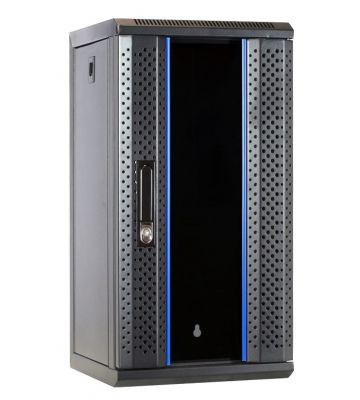 10 inch 12U serverkast met glazen deur 312x310x618mm (BxDxH)