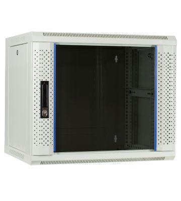 9U witte wandkast met glazen deur 600x450x500mm