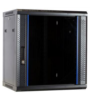 12U ongemonteerde wandkast met glazen deur 600x450x635mm