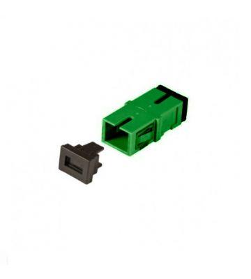 Singlemode keystone koppeling SC-SC simplex groen