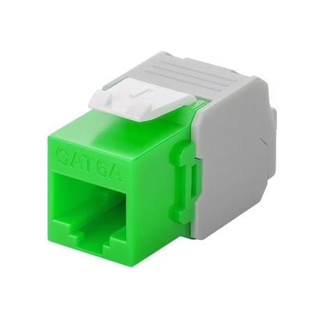 Afbeelding van CAT6a UTP Keystone Connector - Toolless - Groen