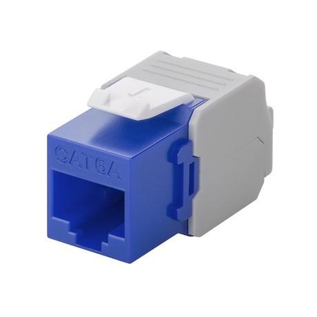 Afbeelding van CAT6a UTP Keystone Connector - Toolless - Blauw