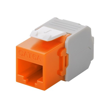 Afbeelding van CAT6a UTP Keystone Connector - Toolless - Oranje