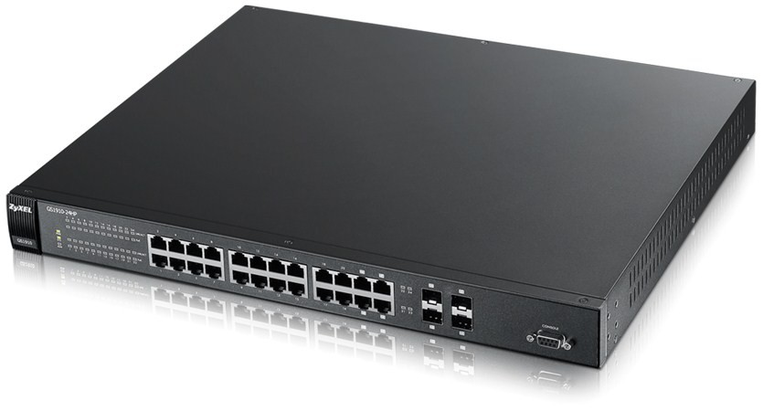 Afbeelding van Zyxel 24-poorts GS1920 smart managed PoE+ switch