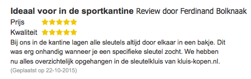 Review sleutelkluis (KL-KB-30K-93)